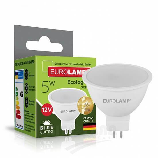 Лампа LED ЭКО MR16 5W GU5.3 4000K 12V (50) EUROLAMP